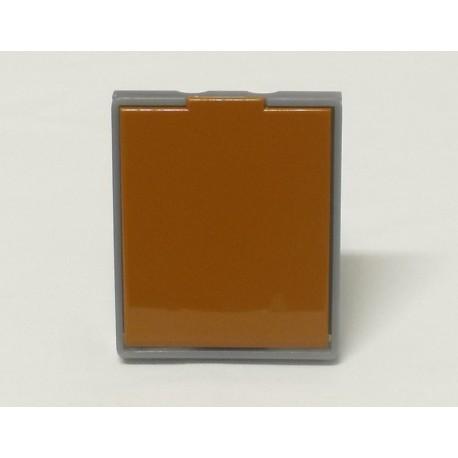 zásuvka karamelová/ledová šedá